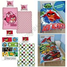 ANGRY BIRDS SINGLE DUVET COVER SETS KIDS BEDDING BOYS GIRLS OFFICIAL FREE P+P