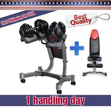 Bowflex 1090 or 552 Full SET: Dumbbells Pair + Bowflex Stand + Bowflex 5.1 Bench