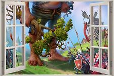 Huge 3D Window Fantasy Fairy Tale Giant View Wall Sticker Decal Mural 967
