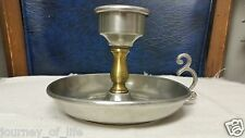 Vintage Kinell - Lane Renaissance Style Gold & Pewter Candle Candlestick Holder