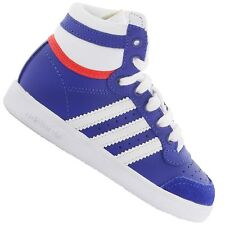ADIDAS ORIGINALS TOP TEN HI BABY KIDS BOYS' SHOES TRAINERS LEATHER DARK BLUE