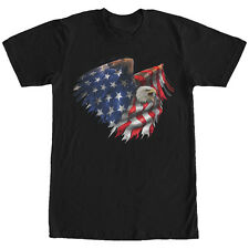 Lost Gods Bald Eagle American Flag Mens Graphic T Shirt
