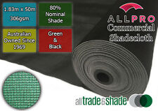 Commercial/Horticultural Shadecloth/Shade Cloth 80% 1.83M x 50M Black OR Green