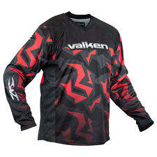 Valken Crusade Riot Paintball Jersey - Red