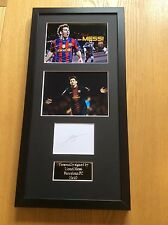 Lionel Messi Barcelona FC Hand Signed Autograph Professionally Mounted Frame