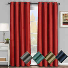 Galleria Grommet Blackout Thermal Insulated Tonal Stripe Window Curtain Panel