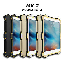 LOVE MEI MK2 Shockproof Leather Aluminum Metal Case Cover For Apple iPad Mini 4