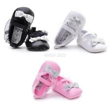 Baby Girl Princess Crib Shoes Toddler Soft Sole Anti-slip Ruffle Lace Prewalker