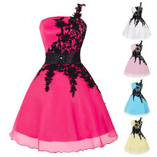 Womens Mini Lace Bridesmaid Cocktail Swing Party Summer Evening Prom Ball Dress
