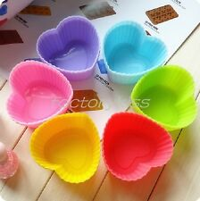 DIY Silicone Cake Muffin Chocolate Cupcake Case Liner Baking Cup Mould 7CM 4H9