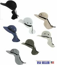 Outdoor Fishing Camping Hunting Boonie Snap Hat Brim Cap Ear Neck Cover Sun Flap