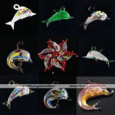 1pc Murano Dolphin Lampwork Glass Bead Charm Pendant For Women Necklace Making