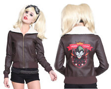Harley Quinn Suicide Squad DC Comic Costume Bomber Faux Leather Jacket Hot Topic