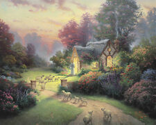 Thomas Kinkade The Good Shepherd Cottage Art Canvas HD Print Wall decor picture