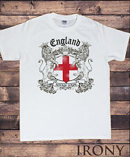 Mens White T-shirt- England Always Loyal St George's Flag and Euro 2016 TS102