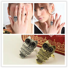 1Pc Anniversary Cute Owl Lovely Animal Chunky Retro Ring Charm Jewelry