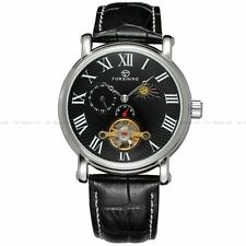 FORSINING 43mm Black Classic Moon Phase Mechanical Automatic gents Watch 008#95