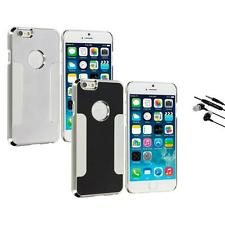 For Apple iPhone 6 (4.7) Brushed Aluminum Metal Hard Case Cover Earphone Mic