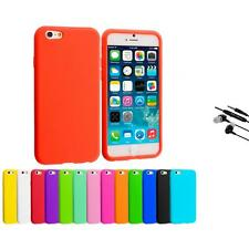 For Apple iPhone 6 (4.7) Silicone Case Rubber Soft Skin Cover Earphone Mic