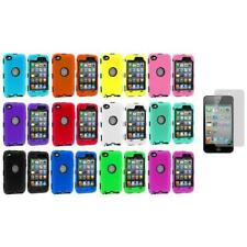 Deluxe Color Hybrid Case Cover+Guard+3X LCD Protector for iPod Touch 4th Gen 4G