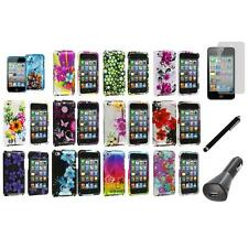 Flower Design Case Cover Accessory+LCD+Charger+Pen for iPod Touch 4th Gen 4G 4