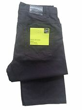 Men's New Pure Cotton Straight leg Button Fly Dark Navy Jeans Reduced to Clear