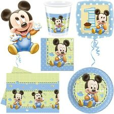 Baby Mickey Mouse Kid's Birthday Babyshower Party Mickey Mouse 1. Birthday Set