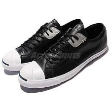 Converse Jack Purcell LP L/S Black Leather Mens Womens Casual Shoes 151974C