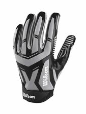 New Wilson Authority Skill Adult Football Receiver Gloves Superior Grip Grey
