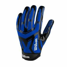 New Wilson Authority Skill Adult Football Receiver Gloves Superior Grip Royal