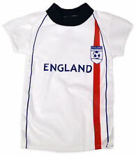 Boys Short Sleeved England Football T-Shirt New Kids Euros Tee Top Age 2-6 Years