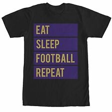 CHIN UP Eat Sleep Football Repeat Mens Graphic T Shirt