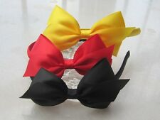 Childs Girls satin ribbon bow Headband Hair Band bow AN14