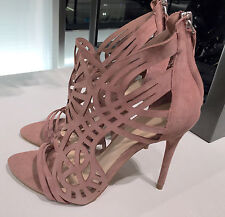 ZARA WRAPAROUND LEATHER SANDALS MAUVE 36-41  Ref.  5450/101