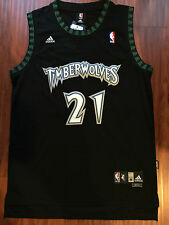 NBA Minnesota Timberwolves Kevin Garnett Throwback Swingman Black Sewn Jersey