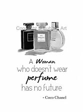 ART PRINT CHANEL No.5, Noir, Chance, Coco Chanel Quote, Fashion Gifts, B & W