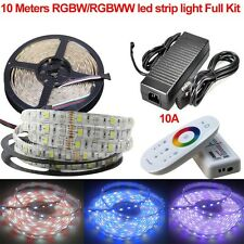 5M 10M RGBW RGBWW 5050 LED Strip Flexible Light Full kit+2.4G Touch Controller