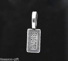 Gift Wholesale Silver Tone Tag Glue on Bail 21x7mm