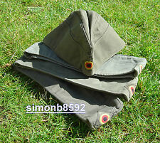 GERMAN MILITARY ARMY SURPLUS OLIVE GREEN G1 FORAGE CAP,GI STYLE COTTON SIDE CAP