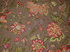 Braemore Jacobean Floral PRALINE Home Decor Drapery Sewing Upholstery Fabric