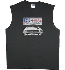 Men's sleeveless t-shirt Ford Mustang license plate 1964 muscle tee tank top