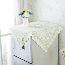 Newest Lace Floral Hollow Tablecloth Square Anti-slip Fridge Cover Home Decor