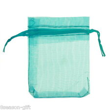Gift Wholesale Lightblue Organza Jewelry Gift Pouch Bags Wedding X-mas Favor