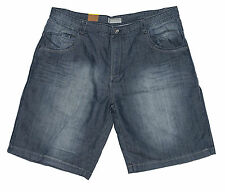 Mens Chisel Jeans Big Mens Dark Blue Denim Straight Leg Shorts CJ-2465BS-S