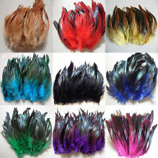 "perfect 100-200pcs badger saddle pretty Rooster feathers 6-7""inch 9 color"