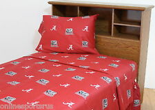 Alabama Crimson Tide Sheet Set Twin Full Queen King Size
