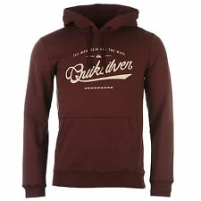 Quiksilver Crime Wave Ribbed Pullover Hoody Mens Burgundy Sweater Top Jumper