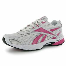 Reebok Pheehan Womens Running Shoes Trainers White/Sil/Pink Jogging Sneakers