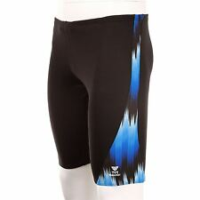 Tyr Radio Turbulence Swimming Jammer Shorts Trunks Mens Blue-