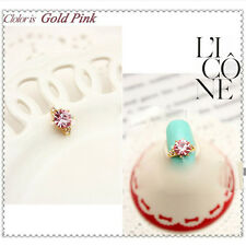 1Pc DIY Nail Art Manicure Shiny Rhinestone Alloy Studs UV Gel Charms Decorations